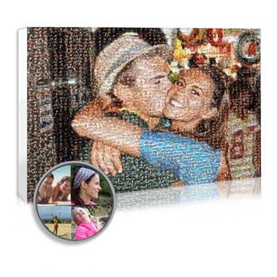 mosaïque avec vos photos cadeau saint-valentin