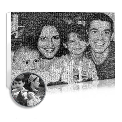 create a mosaic photo for your mom