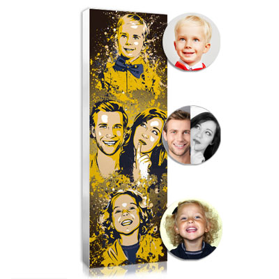 the family photo in splash, an original gift idea for mom