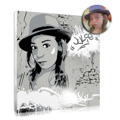 Christmas gift idea : the graffiti portrait